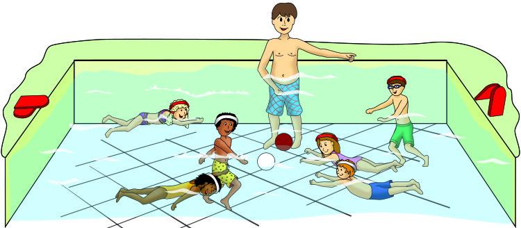 """Beginn des Spiels """"Wasserball mit 2 Bällen"""""""